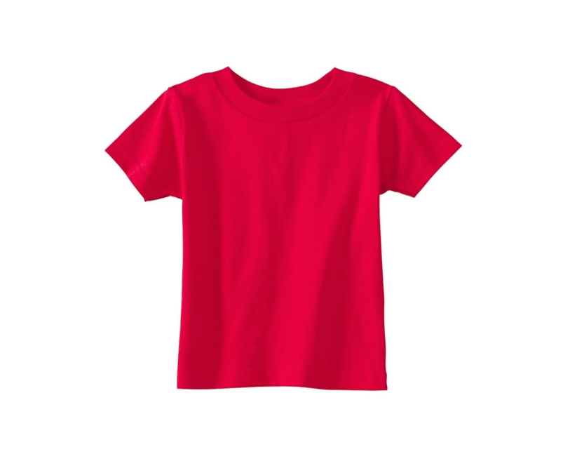 Red Crew Neck T Shirt 100% Cotton 00818