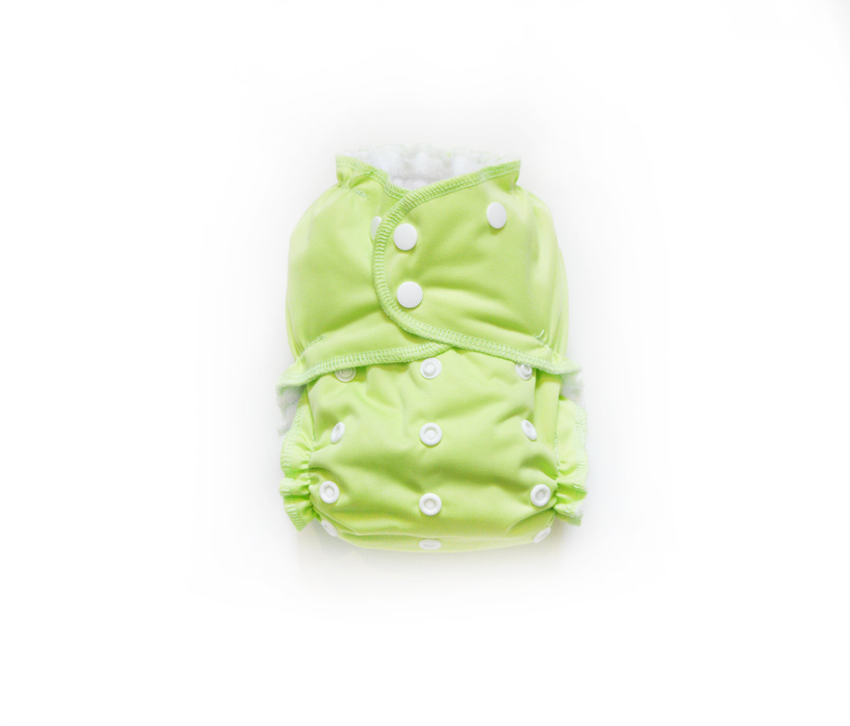 Easy Peasies® One Size Reusable Cloth Pocket Diaper - Lime