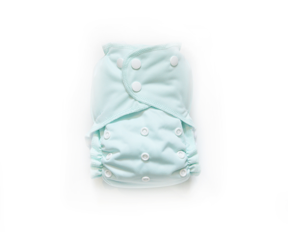 Easy Peasies® One Size Reusable Cloth Pocket Diaper - Mint 00834