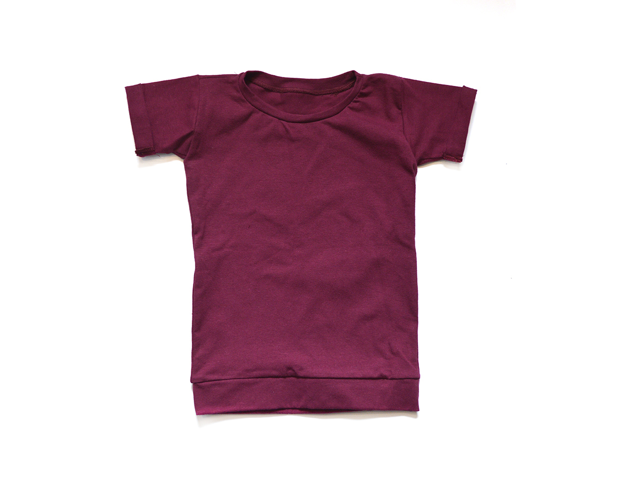 Little Sprout™ Baby to Toddler T shirt in Burgundy 00851
