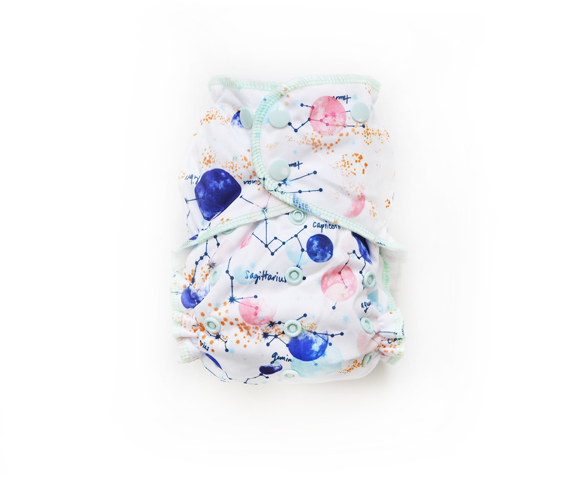 Easy Peasies® One Size Reusable Cloth Pocket Diaper - Apollo 00863