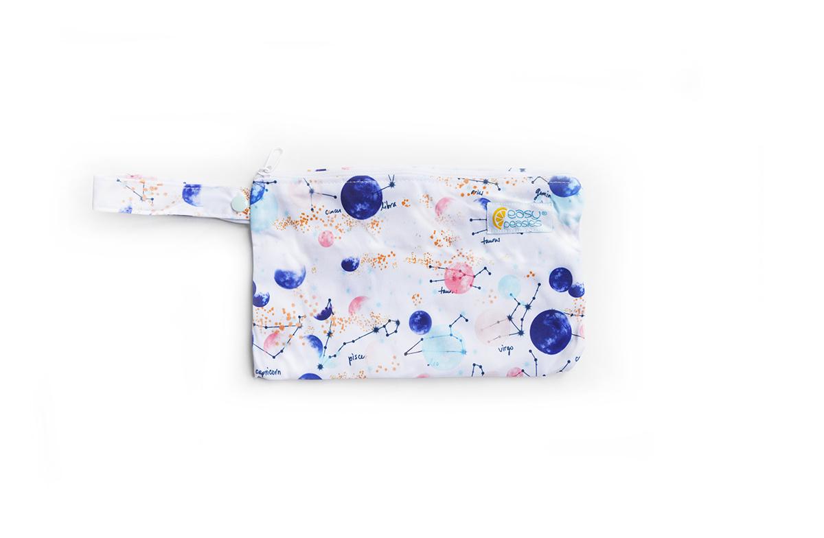 Easy Peasies® Mini Reusable Wetbag With Strap - Apollo 00887