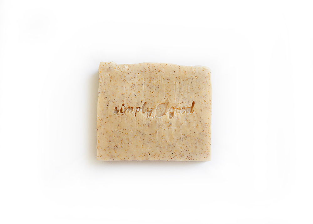 NEW! Apricot Scrub Simply Good™ Triple Butter Vegan Soap Bar 00891