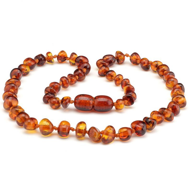Baltic Pines™ Baltic Teething Amber Necklace - Medium Amber 00925