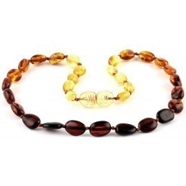 Baltic Pines™  Adult Size Healing Amber Bracelet or Necklace - Gradient Amber