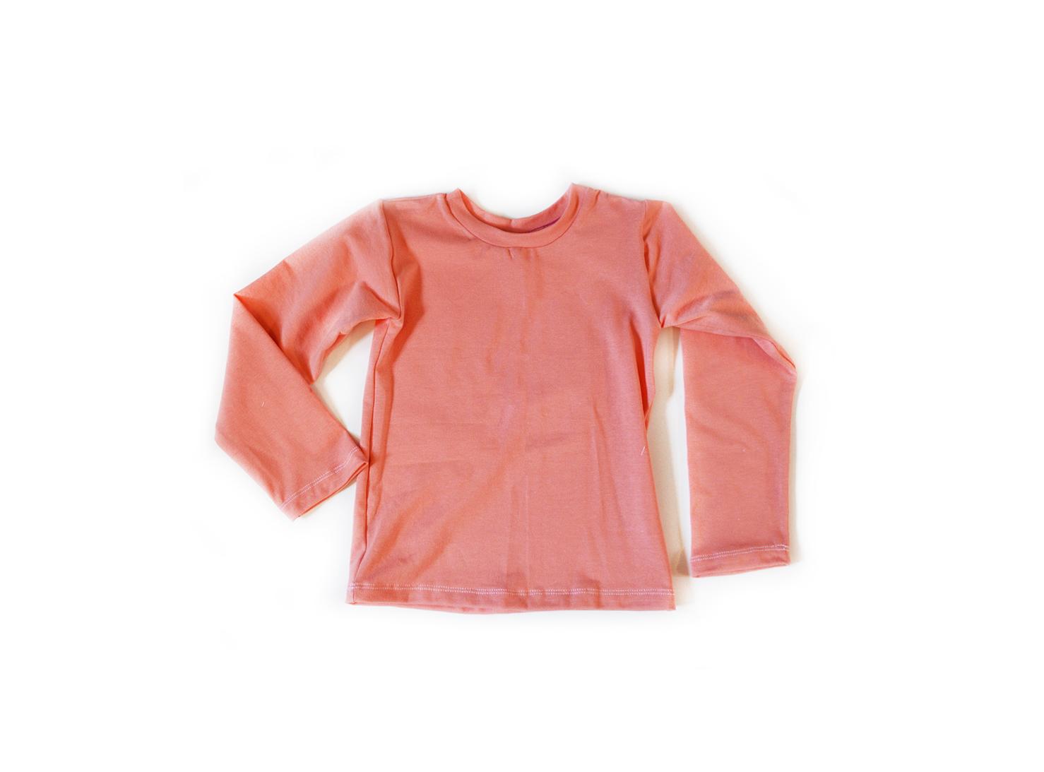 Little Kids Long Sleeve T shirt Coral 00963