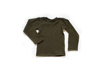 Little Kids Long Sleeve T shirt Dark Olive