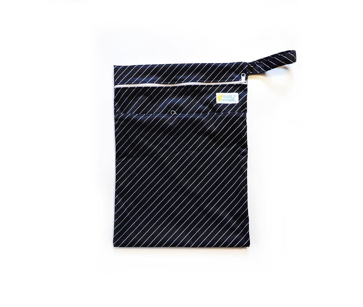 Easy Peasies® Dual Zipping Pocket Wetbag Travel Sack  - Pinstripe 00993
