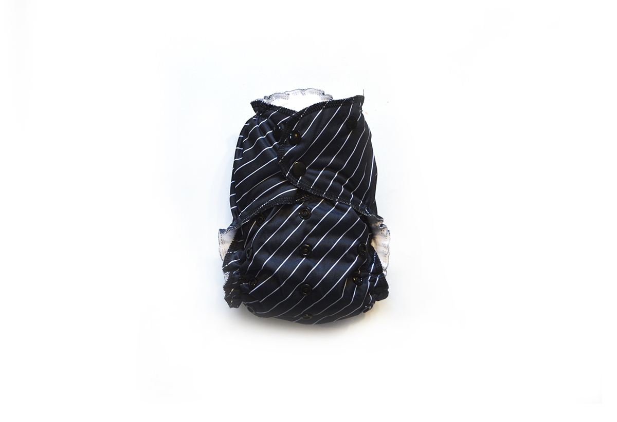 Easy Peasies® One Size Reusable Cloth Pocket Diaper - Pinstripe 01001