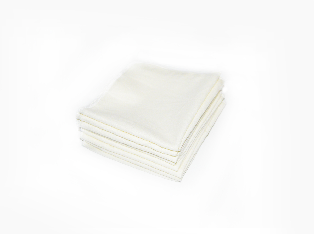 "Easy Peasies Large 100% Cotton Flannel Wipes - Set of 8 11""  01030"