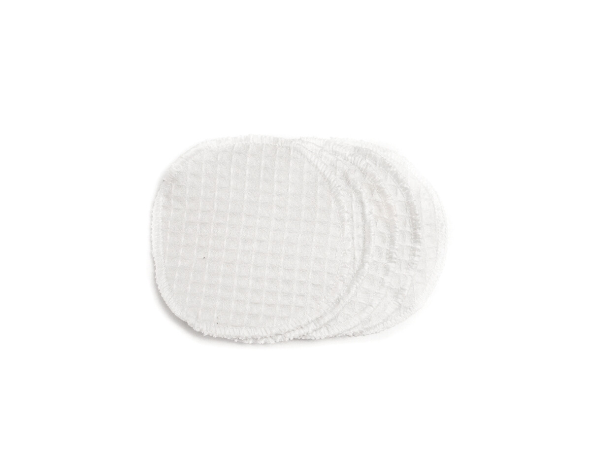 Set of 5 Simply Good Waffle Cotton Facial Scrub Pads