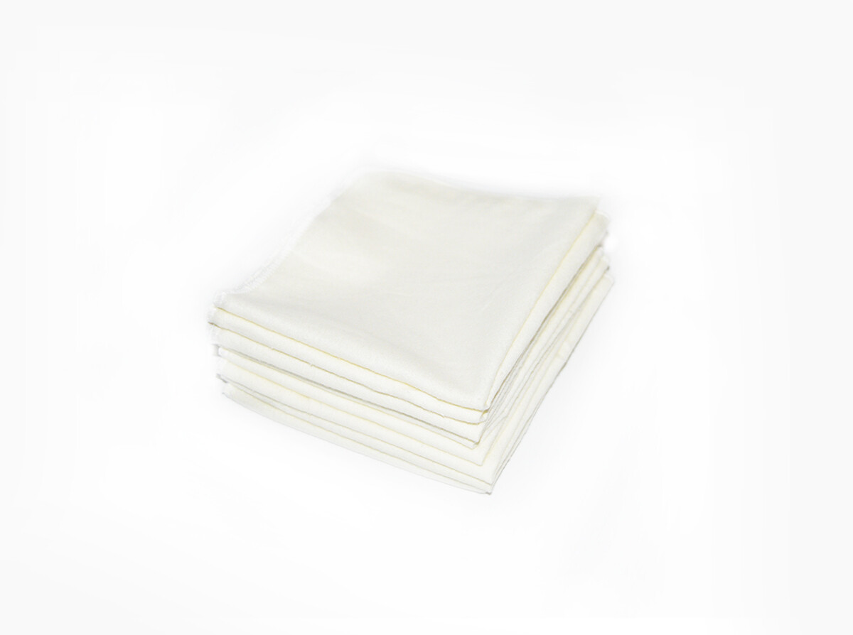 Easy Peasies Large 100% Cotton Flannel Wipes - Set of 8