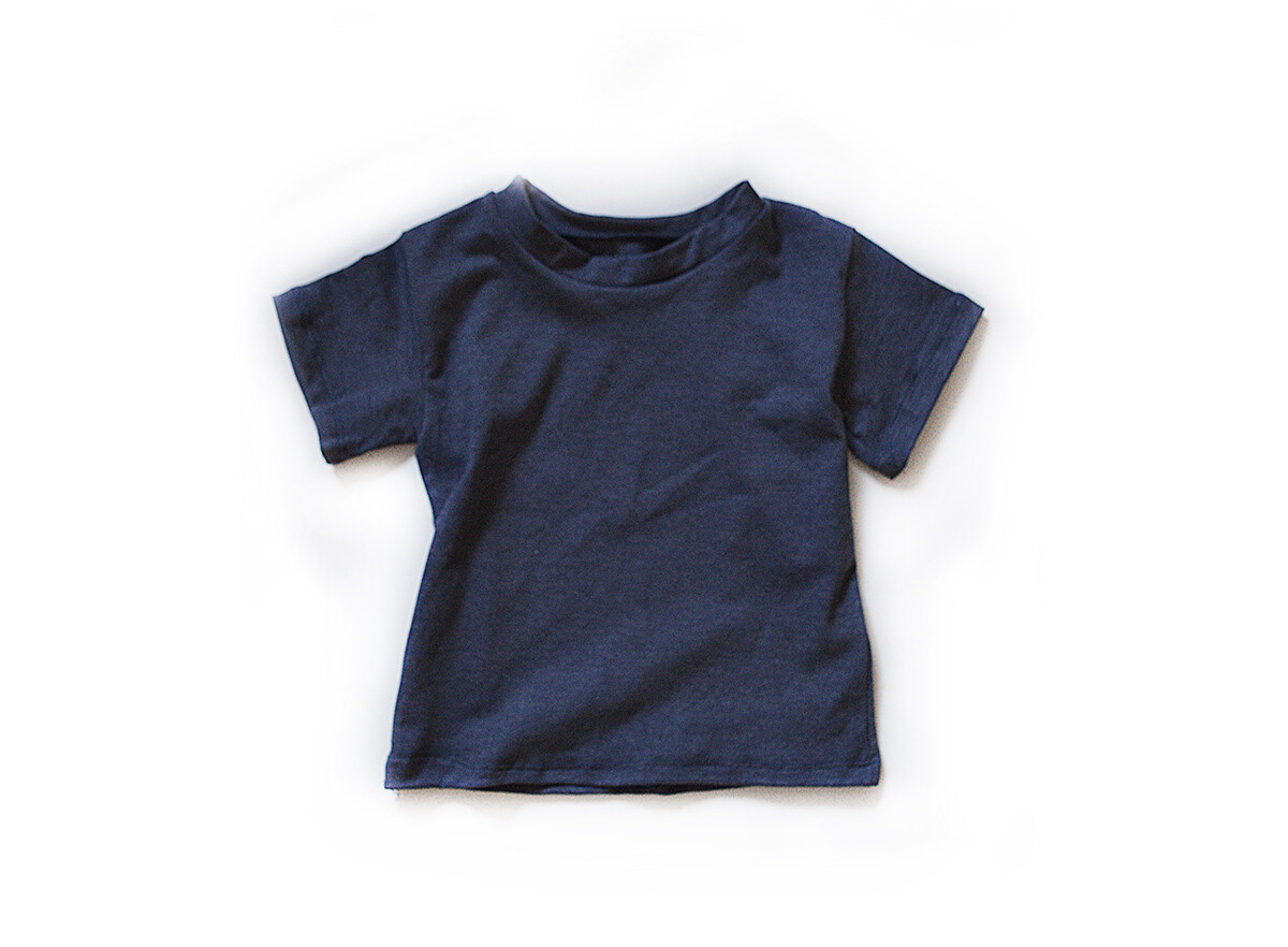 Little Sprout™ Cotton T-Shirt in Denim Blue   NEW Fall 2019