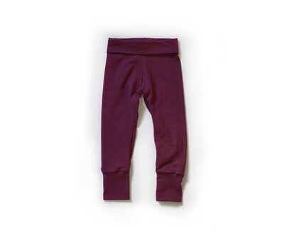 Little Sprout Pants™ in Cranberry | Grow With Me Leggings