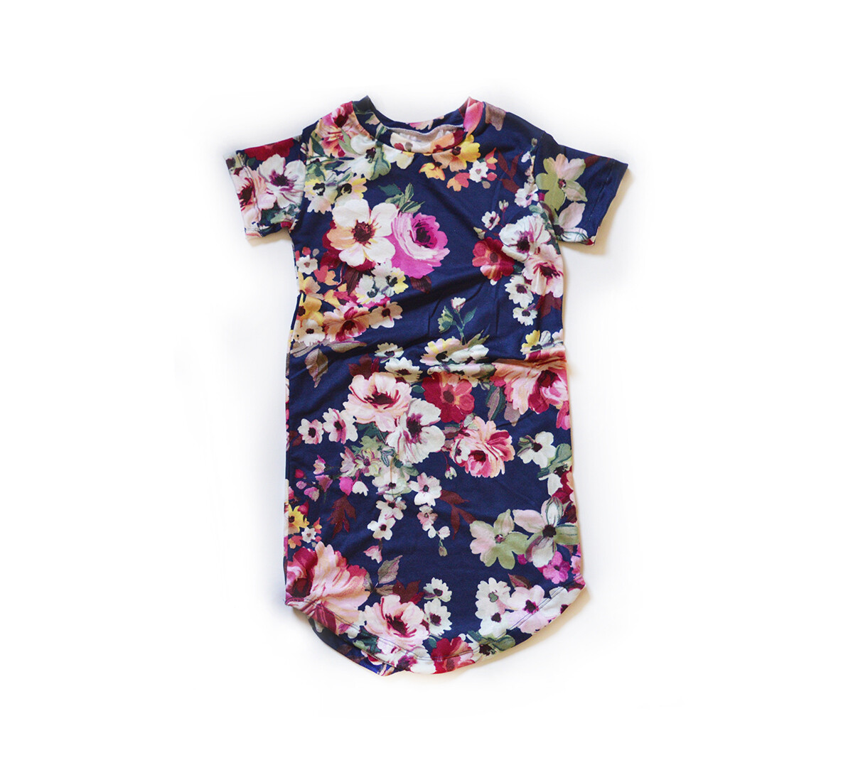 Little Sprout™ Cotton T-Shirt Dress in Navy Floral | NEW Fall 2019