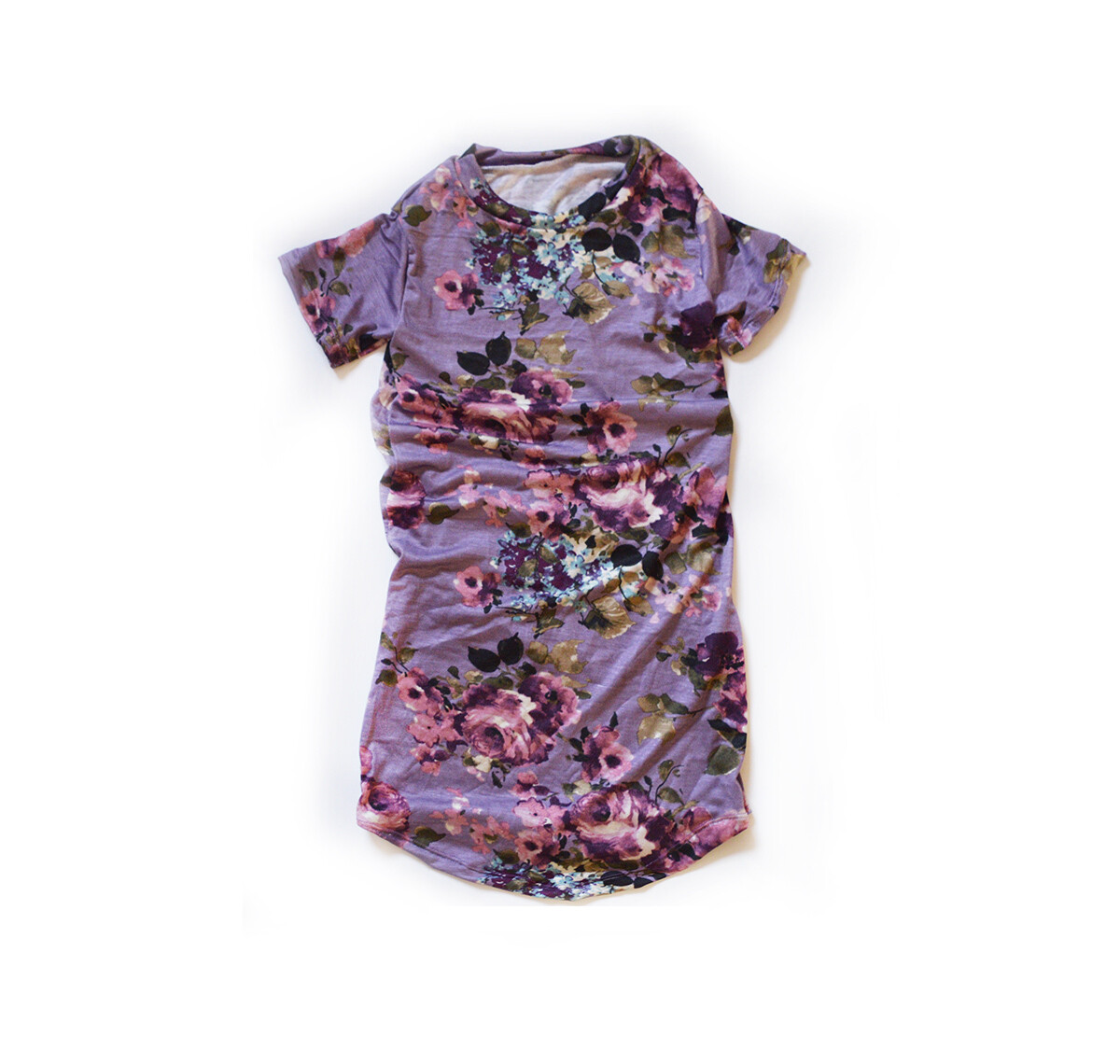 Little Sprout™ Cotton T-Shirt Dress in Mauve Floral | NEW Fall 2019