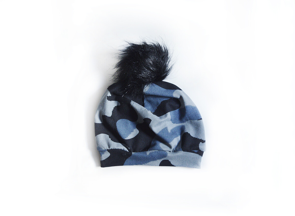 Little Sprout Pom Pom Beanie Hat in Ice Camo | NEW Fall 2019