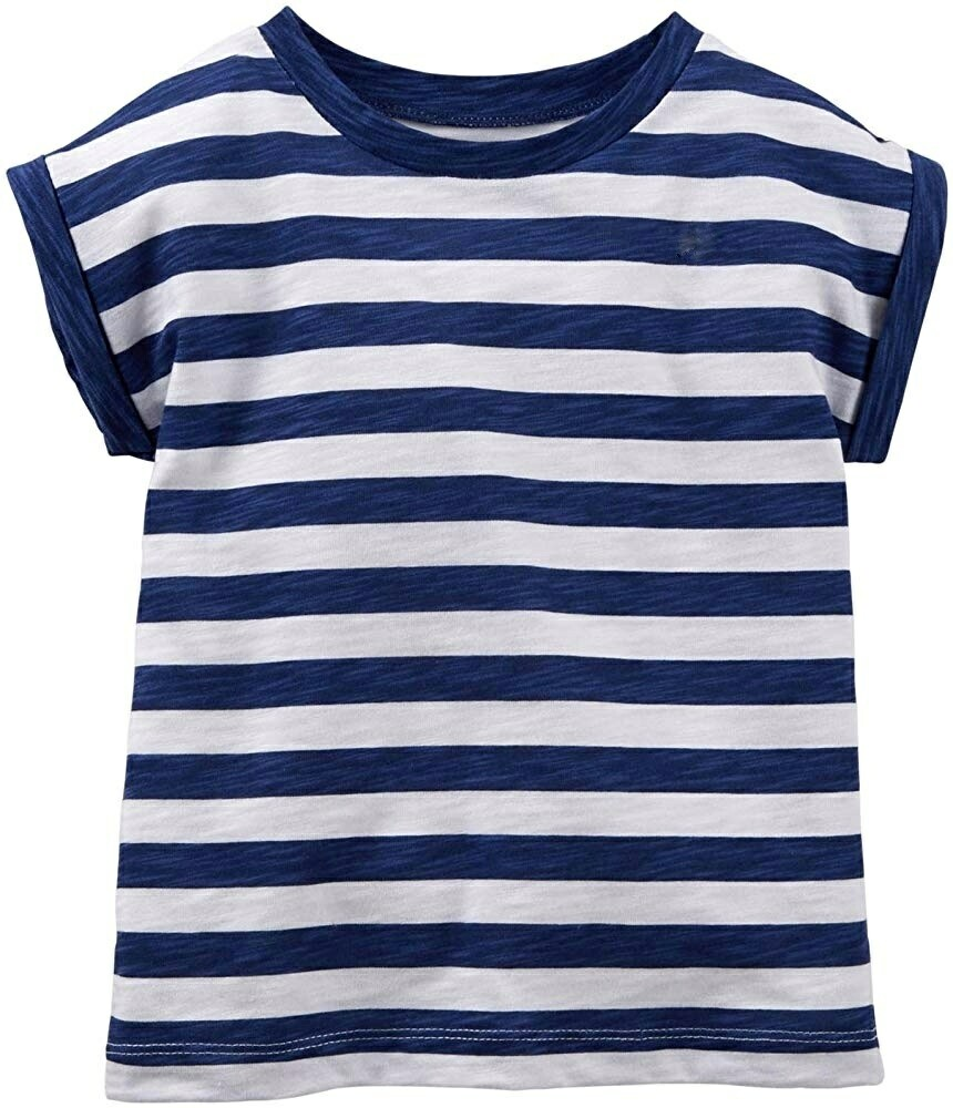 Little Sprout™ Striped navy and white cuffed T shirt | NEW Fall 2019
