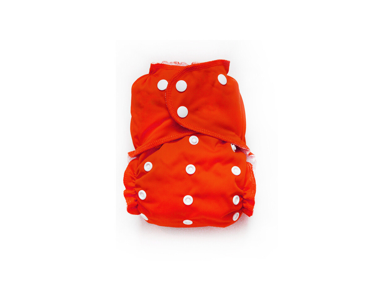 Easy Peasies One size Pocket Cloth Diaper - Poppy