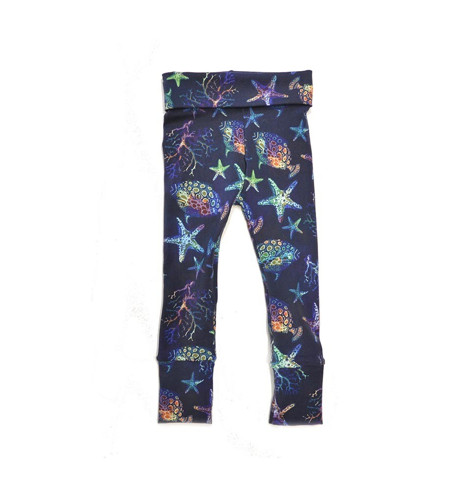 Little Sprout Pants - Ocean Life - Cotton