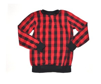 Baby / Big Kid Little Sprout Long Sleeve Pullover Style Shirt - Plaid