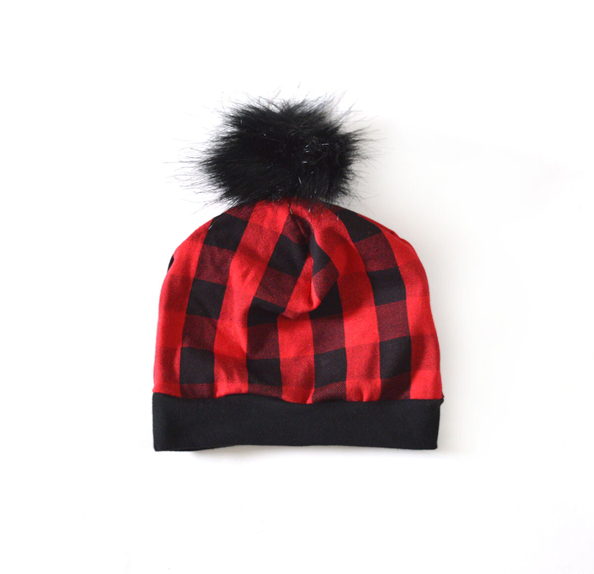 Little Sprout Pom Pom Beanie Hat in Plaid | NEW Winter 2019