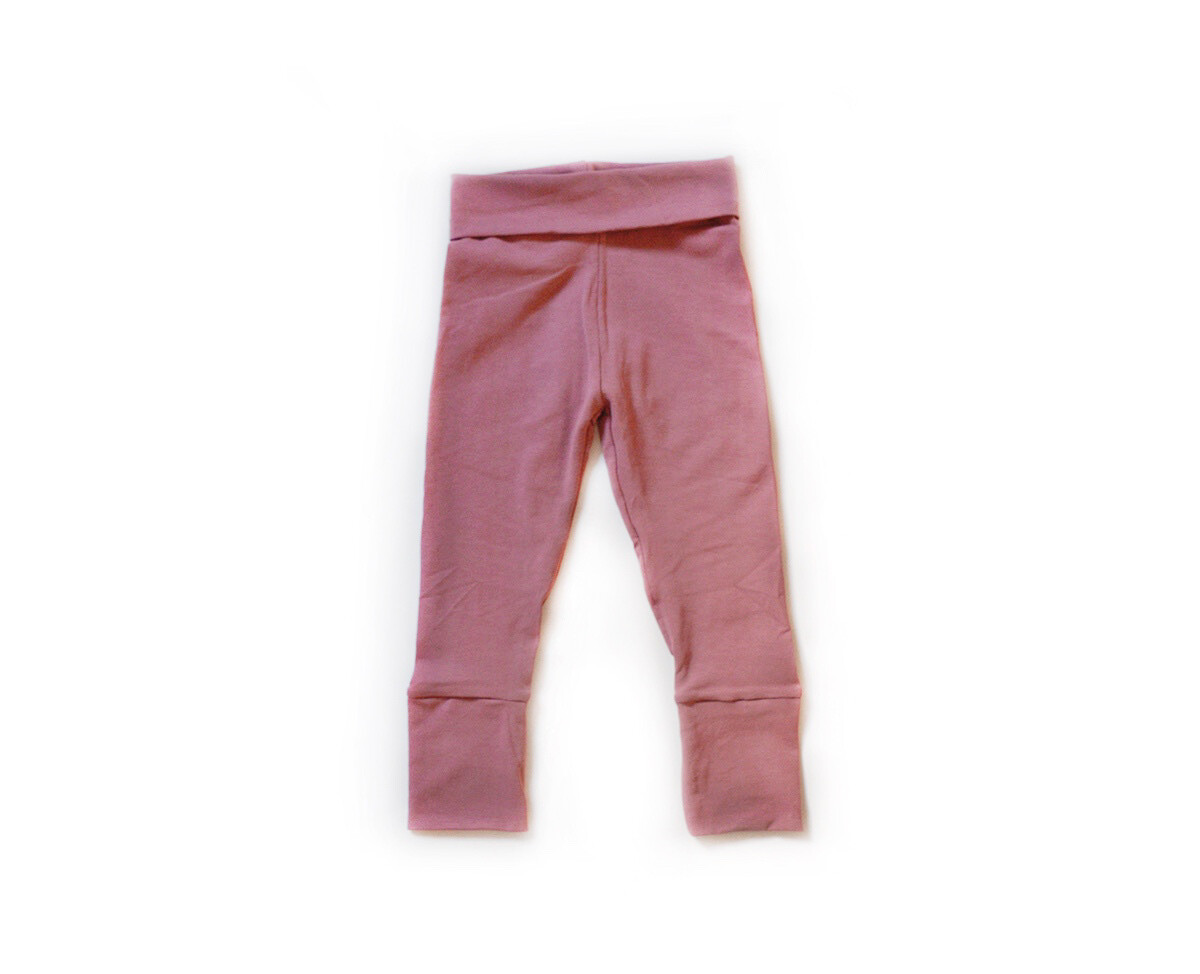 Little Sprout Pants™ in Dusty Rose | Stretch - Grow With Me Leggings