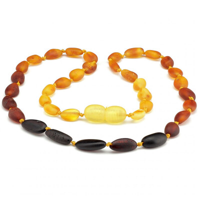 Baltic Pines™  Baby Size Healing Amber Teething Bracelet or Necklace - Ombre Raw