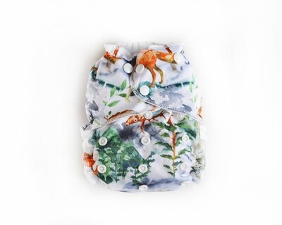 Easy Peasies One size Pocket Cloth Diaper - Into the Mist
