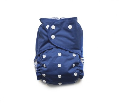 Easy Peasies All in One (AIO) Cloth Diaper  - Midnight