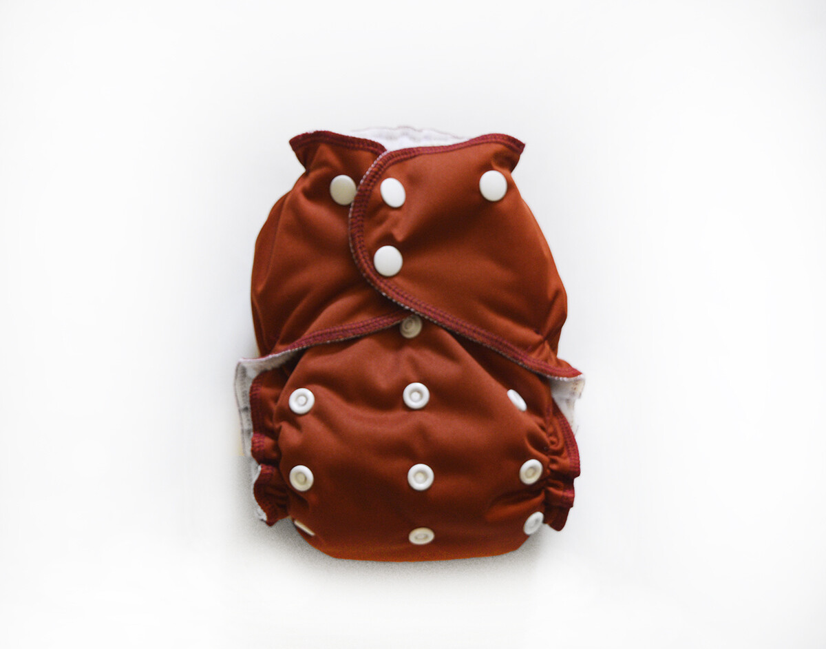 Easy Peasies One size Pocket Cloth Diaper - Rust