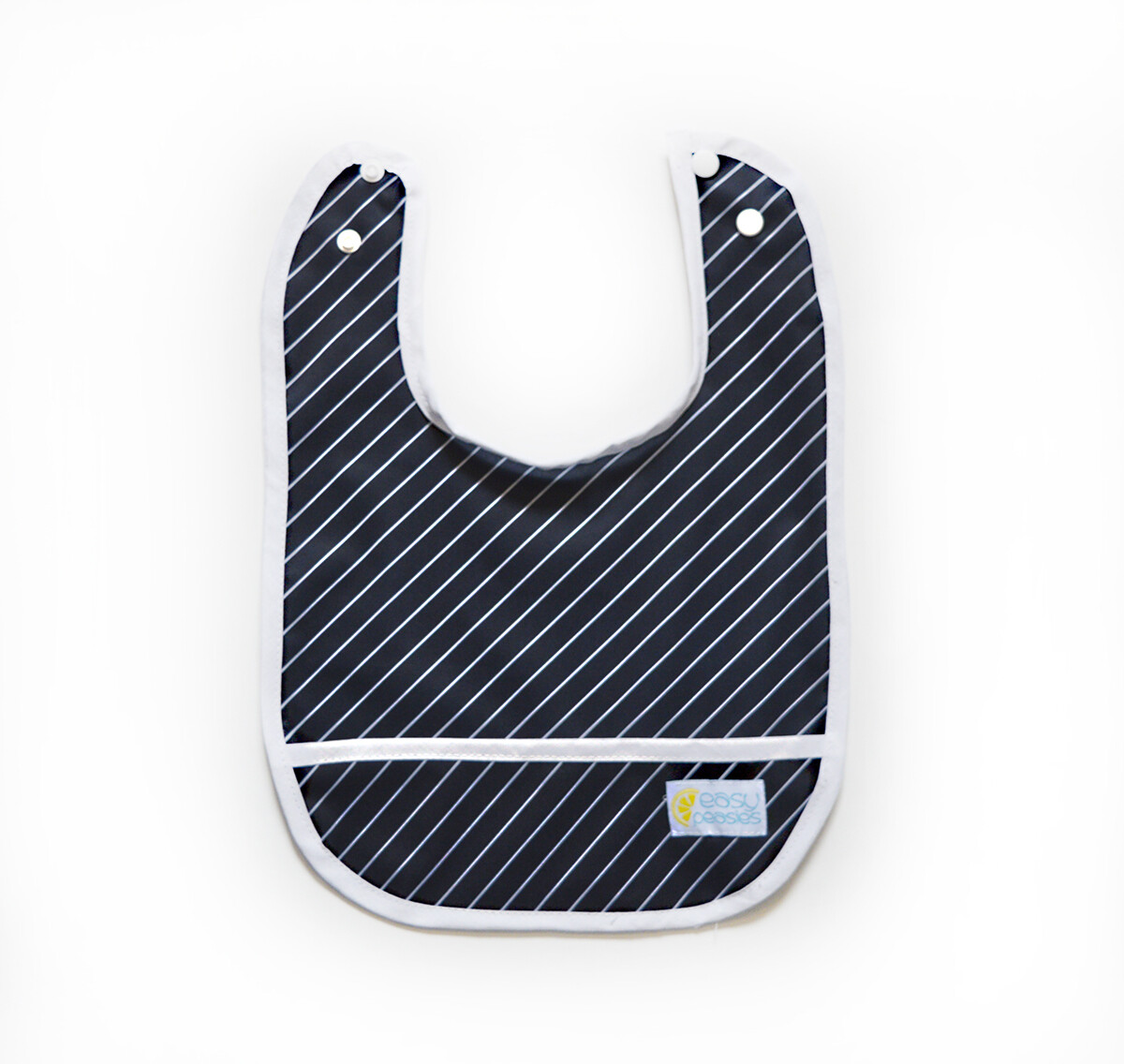 Easy Peasies® Stay Clean Bib - Pinstripe