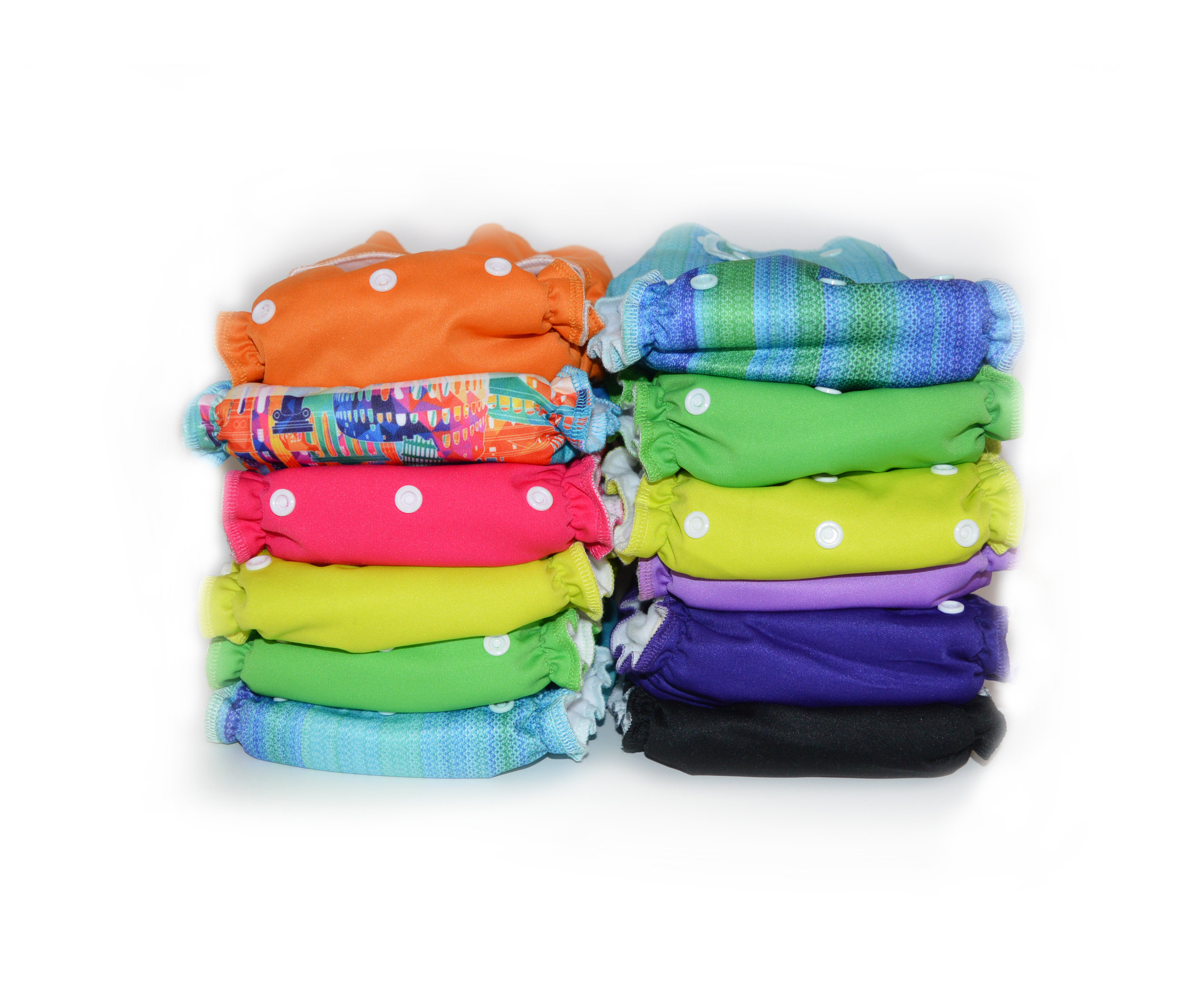 Easy Peasies® The Full Kit™ - Ready-Use AIO Reusable Cloth Diapers - Starter Pack Stash 00271