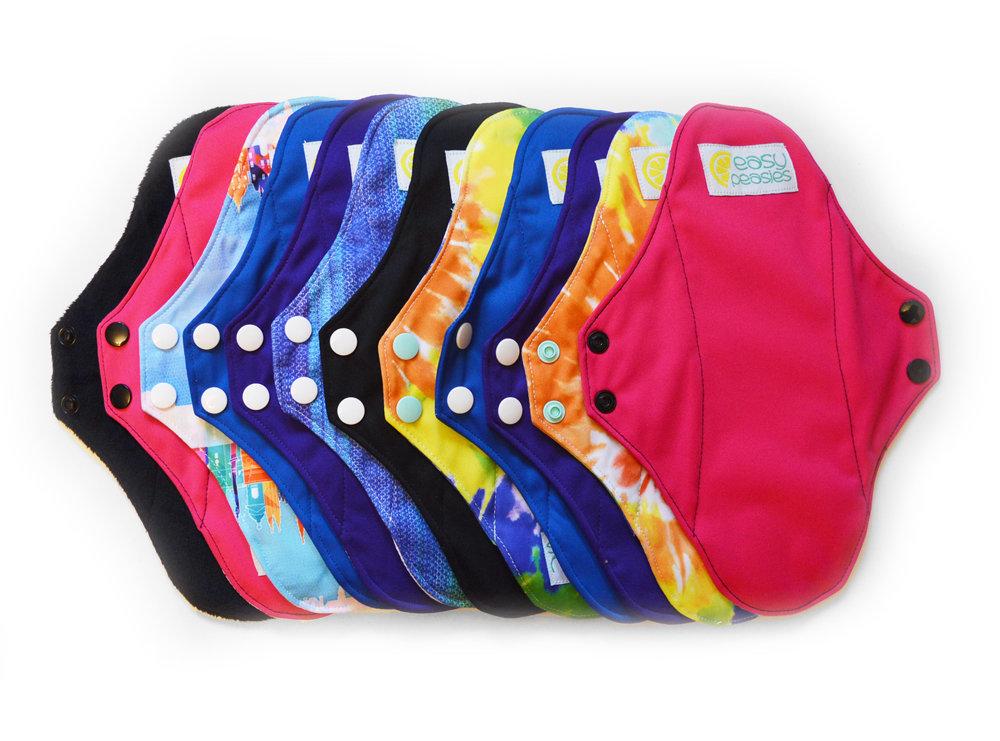 Easy Peasies® Full Kit™ Reusable Menstrual Pad -  Sanitary Napkin Set - Starter Pack 00317