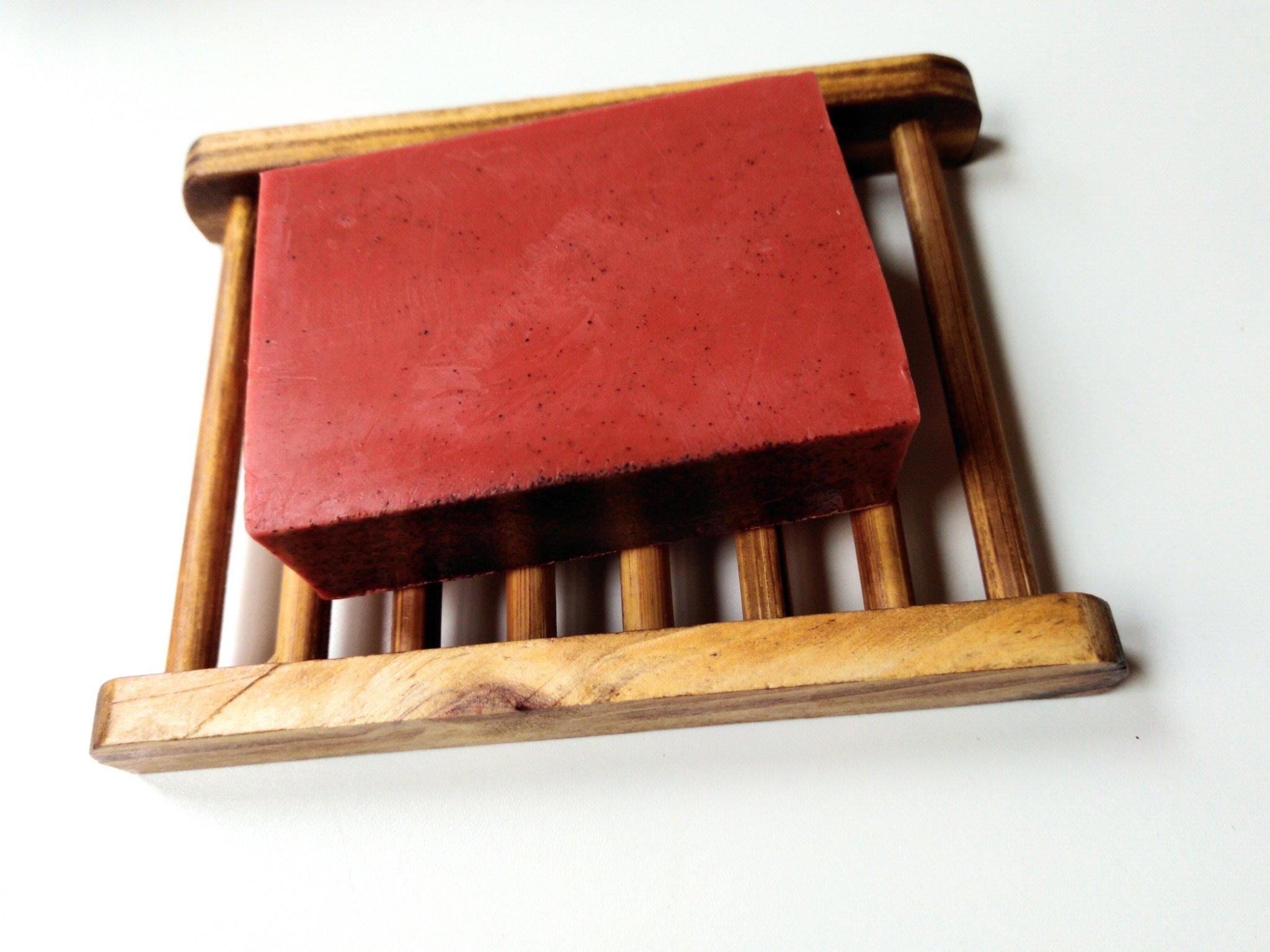 Wood soap dish  00367
