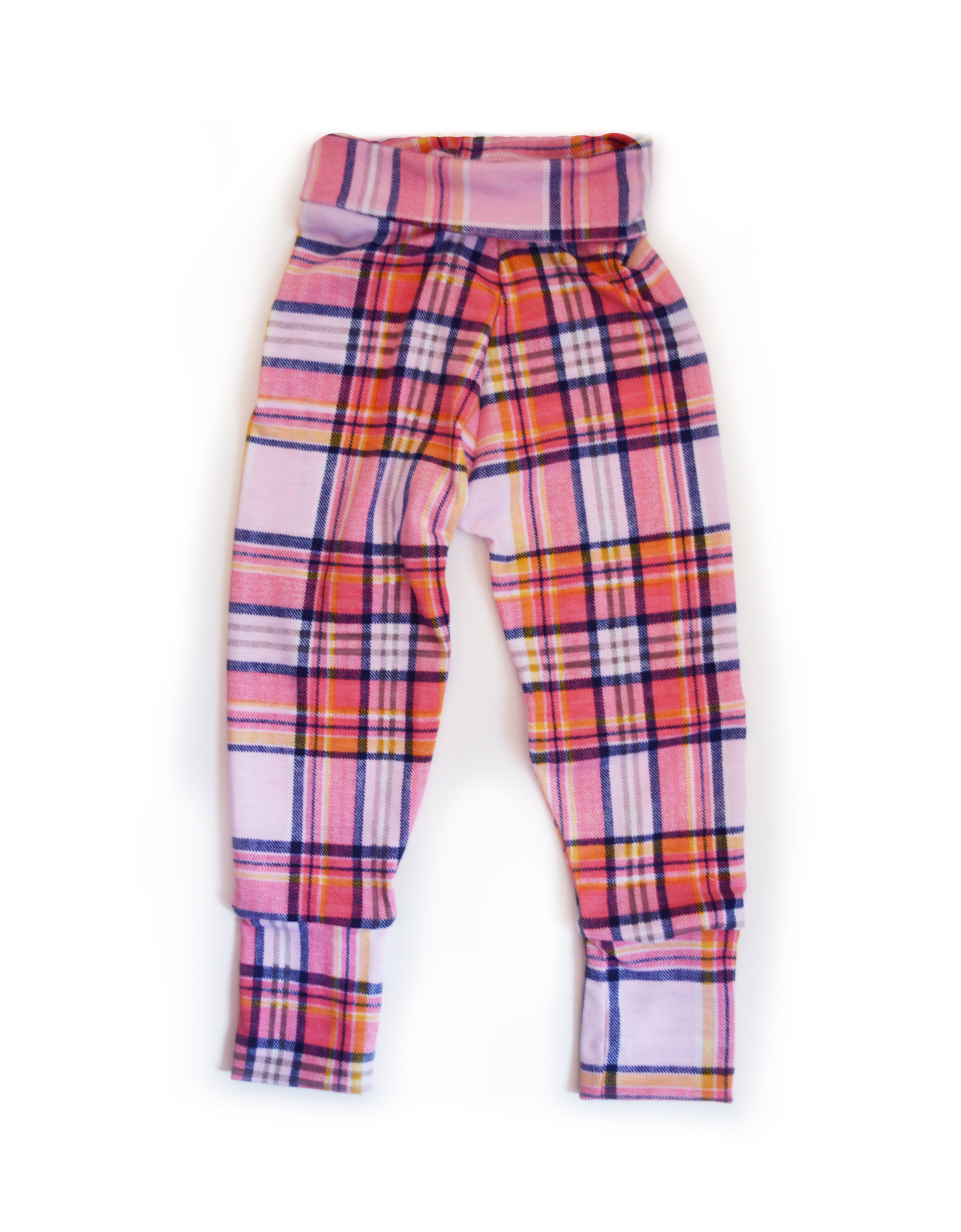 Little Sprout Pants™ Pink Tartan Slim 00369