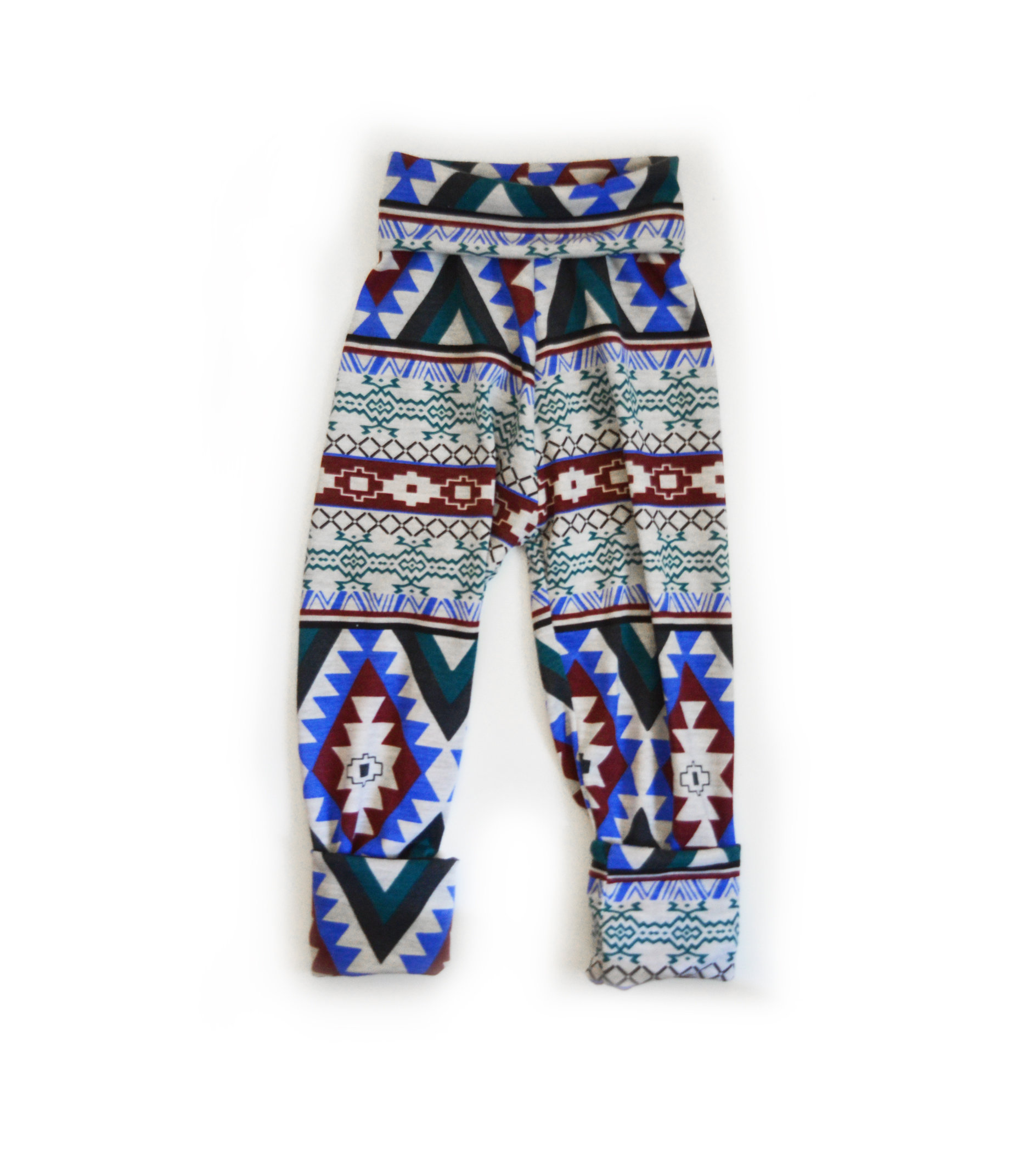 Little Sprout Pants™ Burgundy Tribal - Slim Fit 00373