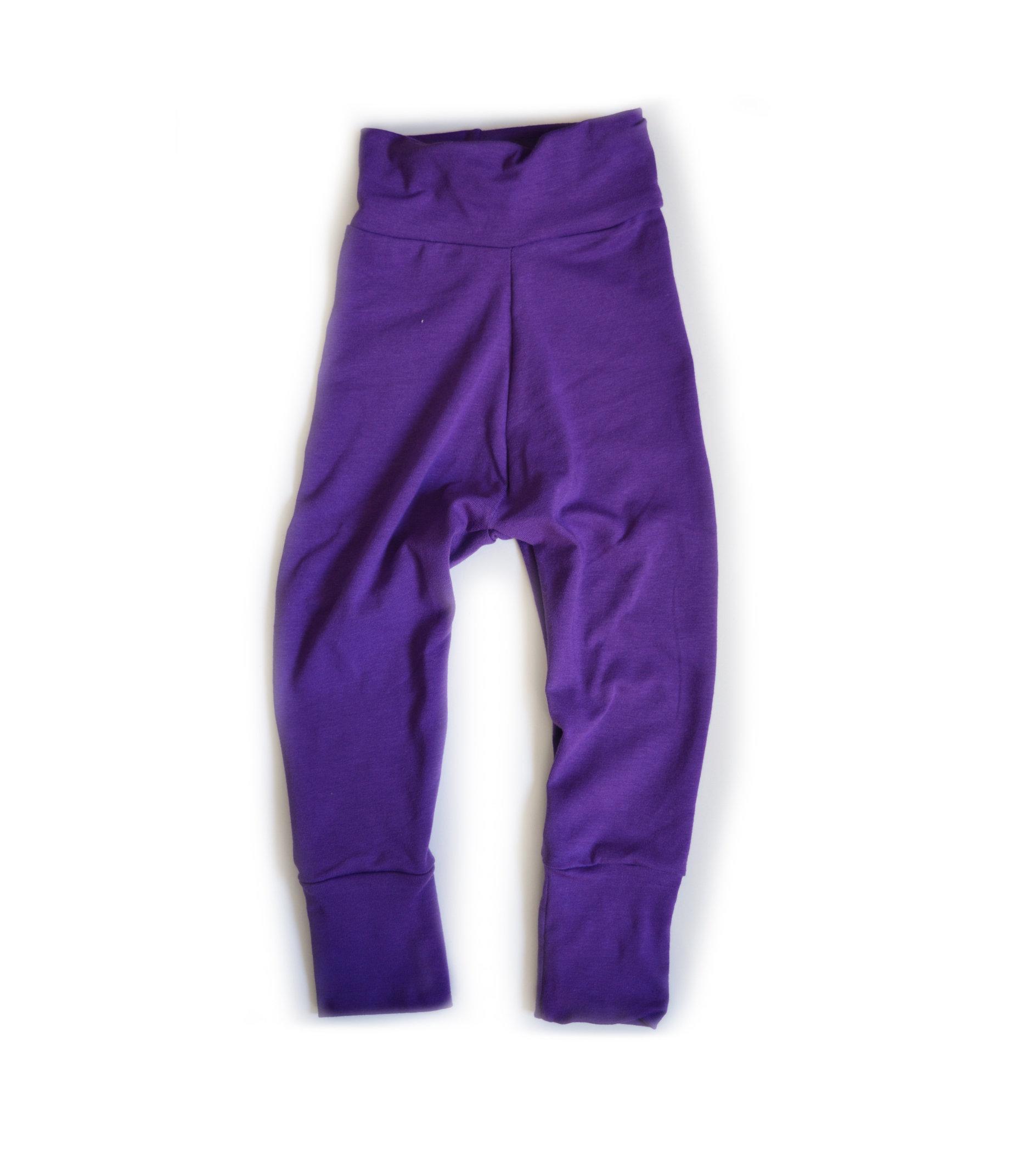 Little Sprout Pants™ Deep Purple - Cotton Lycra Slim Fit 00379