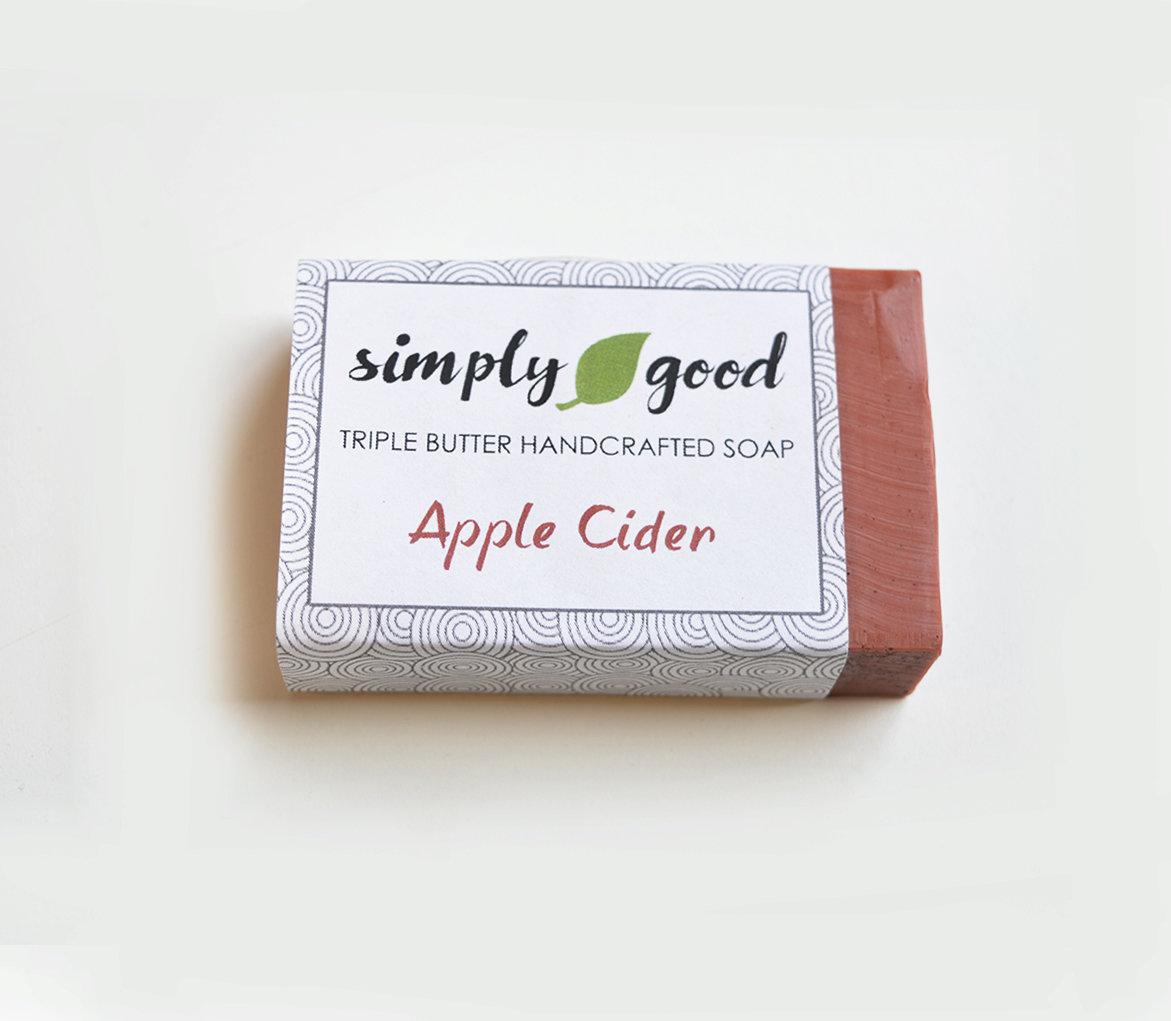 Sweet Apple Cider Simply Good™ Triple Butter Vegan Soap Bar 00261