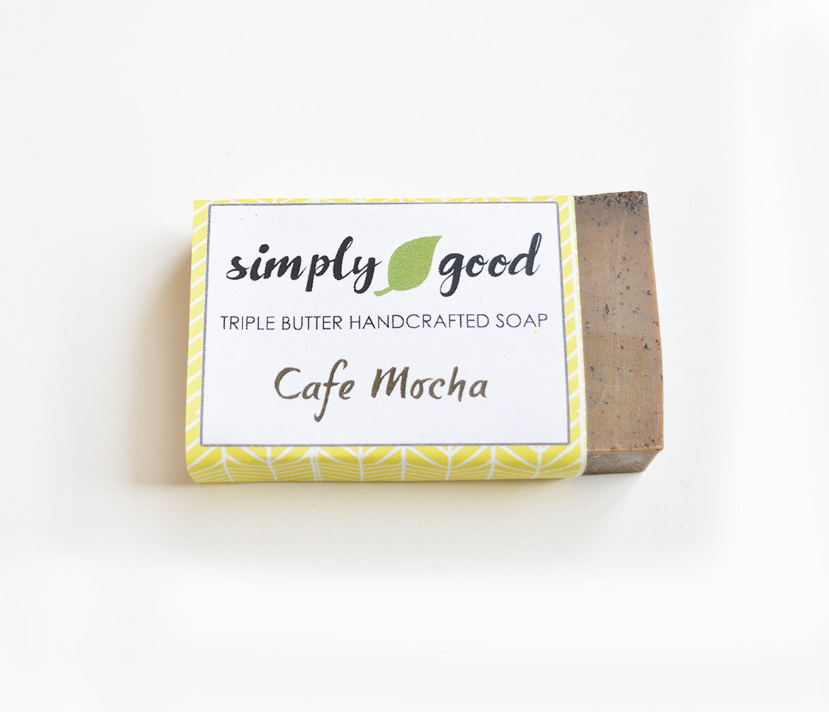 Cafe Mocha Simply Good™ Triple Butter Vegan Exfoliating Soap Bar 00391