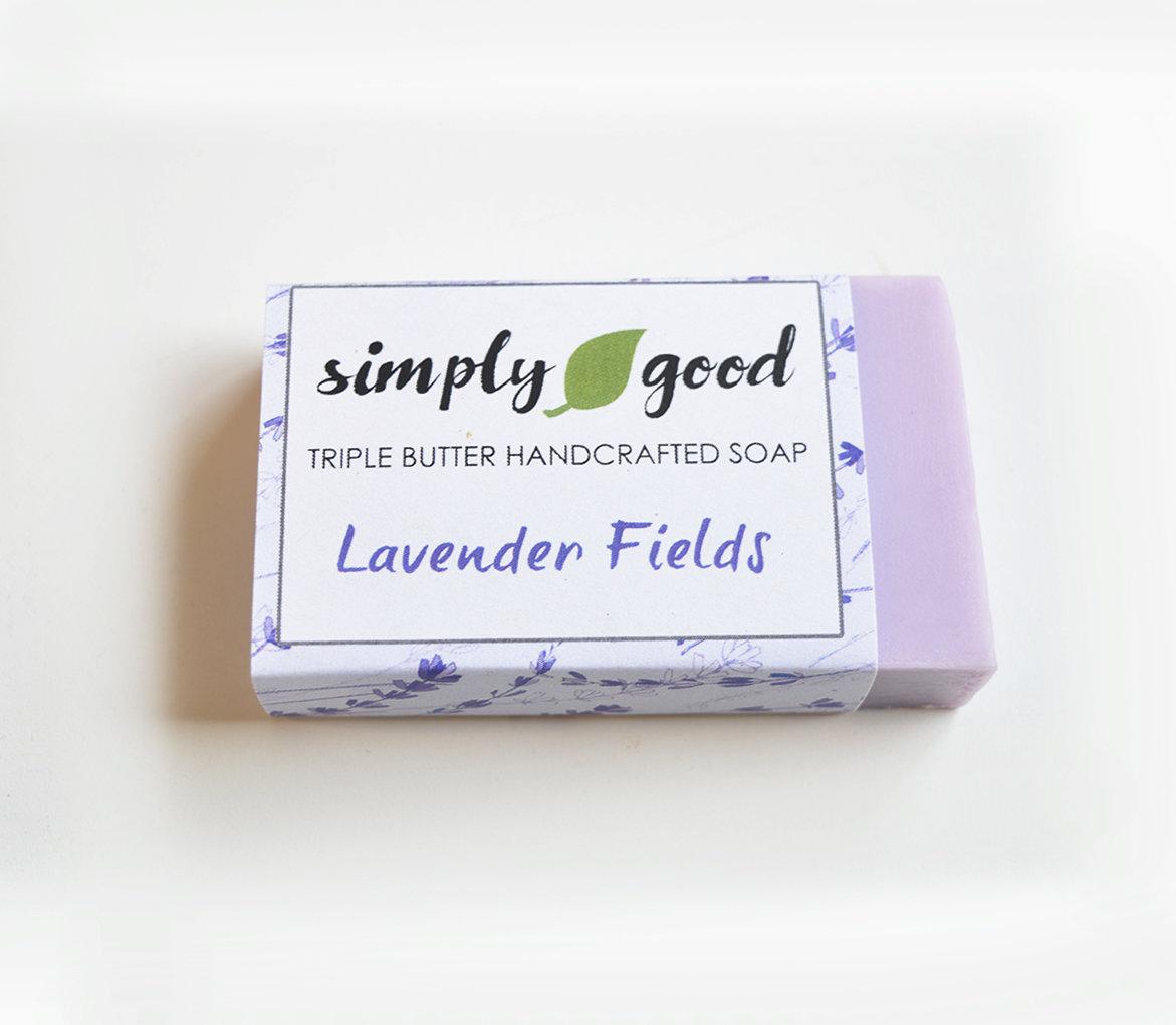 Lavender Fields Simply Good™ Triple Butter Vegan Soap Bar 00393