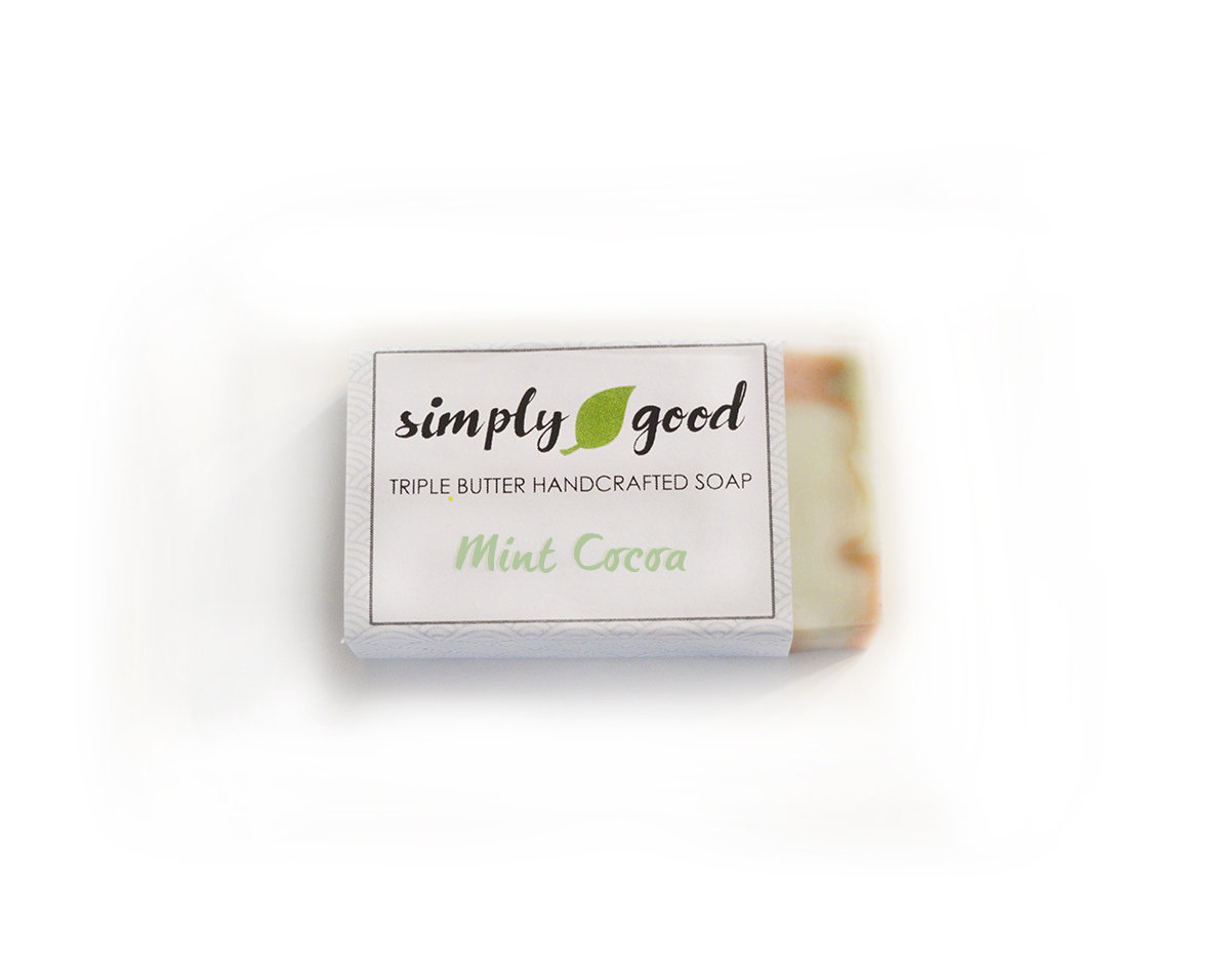 Mint Cocoa Simply Good™ Triple Butter Vegan Soap Bar 00410