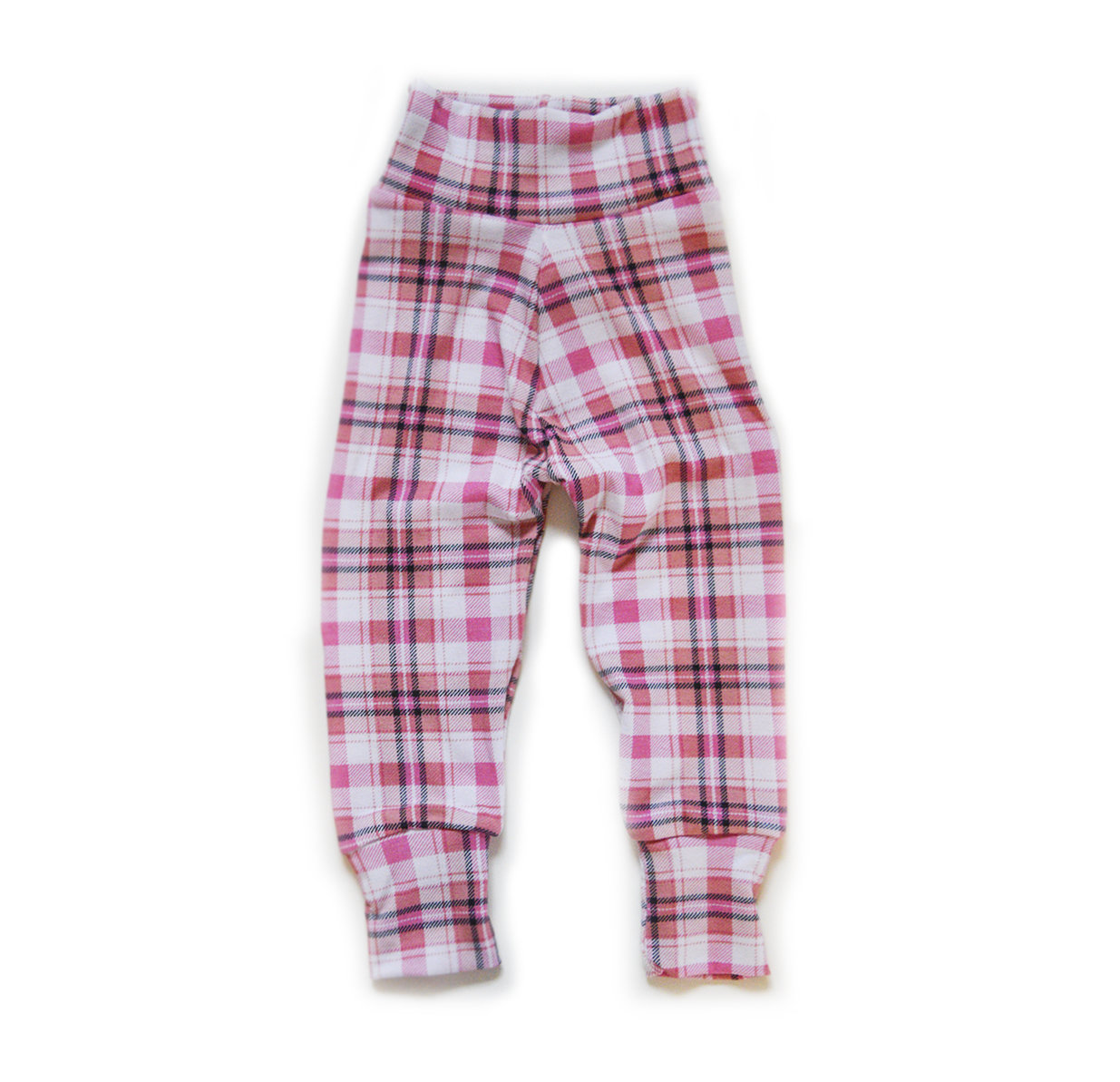 Little Sprout Pants™ Pink Tartan - Lightweight Stretch Fit slim 00415