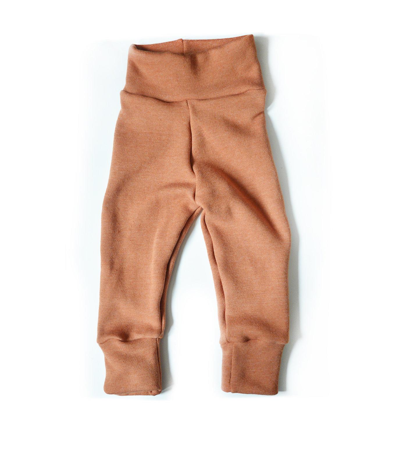 Mini Sprout Pants™ Orange Sweatshirt Fleece - Slim Fit 00421