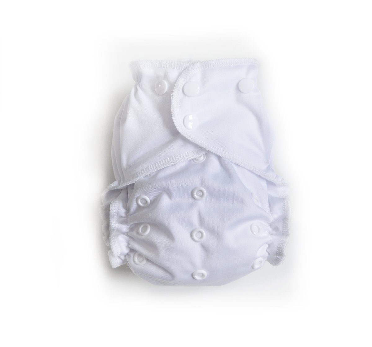 Easy Peasies® One Size Reusable Cloth Pocket Diaper - Classic White 00446