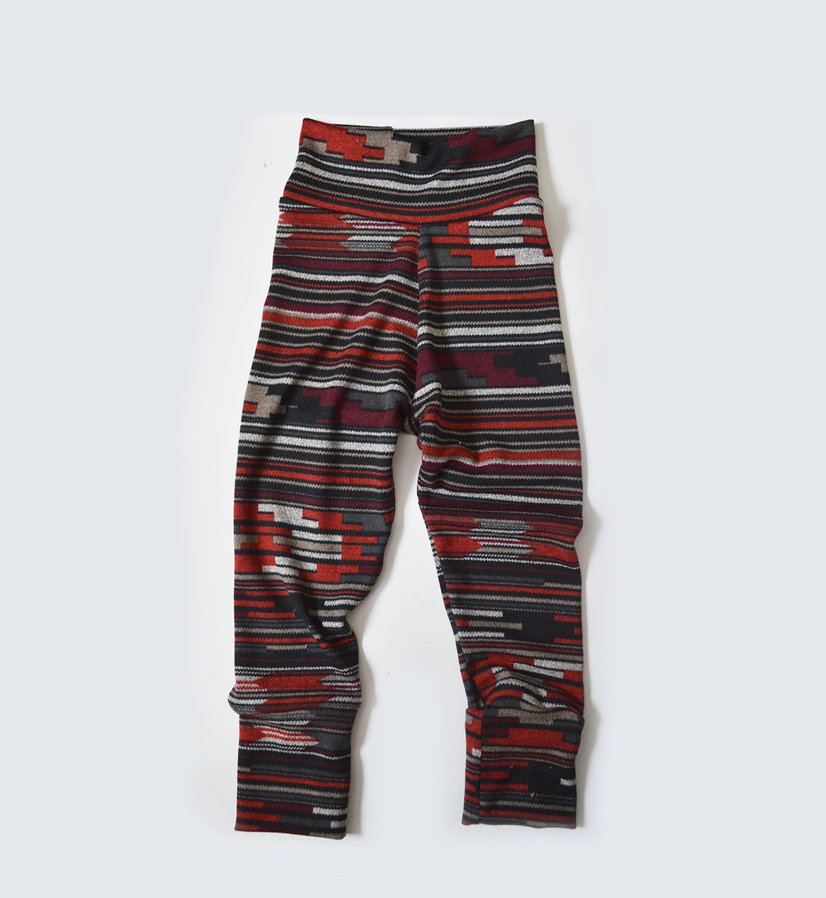 Little Sprout Pants™ Red Knit Tribal Abstract - Slim Fit 00455