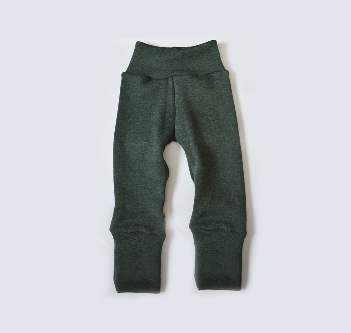Little Sprout Pants™ Green Stretchy Sweatshirt Fleece 00456