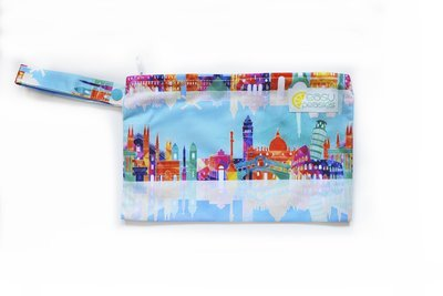 Easy Peasies® Mini Reusable Wetbag With Strap - Voyage