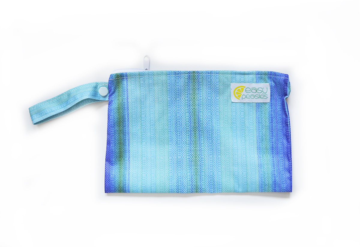 Easy Peasies® Mini Reusable Wetbag With Strap - Ocean