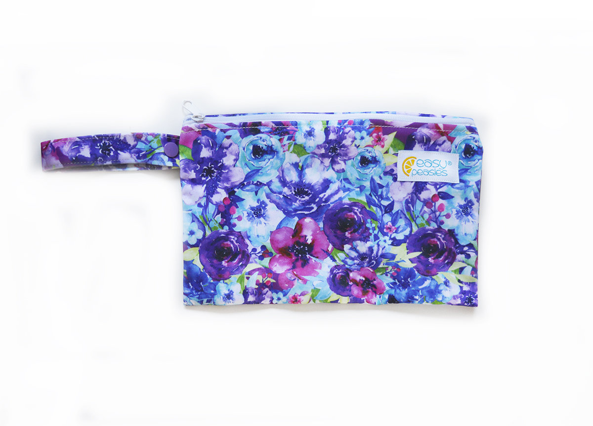 Easy Peasies® Mini Reusable Wetbag With Strap - Blossom
